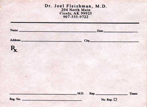 Joel's prescription pad
